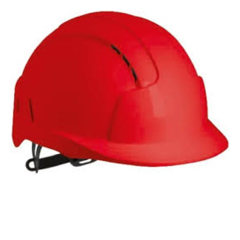 Red EVOLite Mid Peak Vented Wheel Adjustable Helmet
