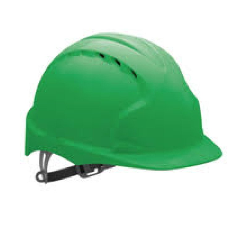 Green EVOLite Mid Peak Vented Wheel Adjustable Helmet