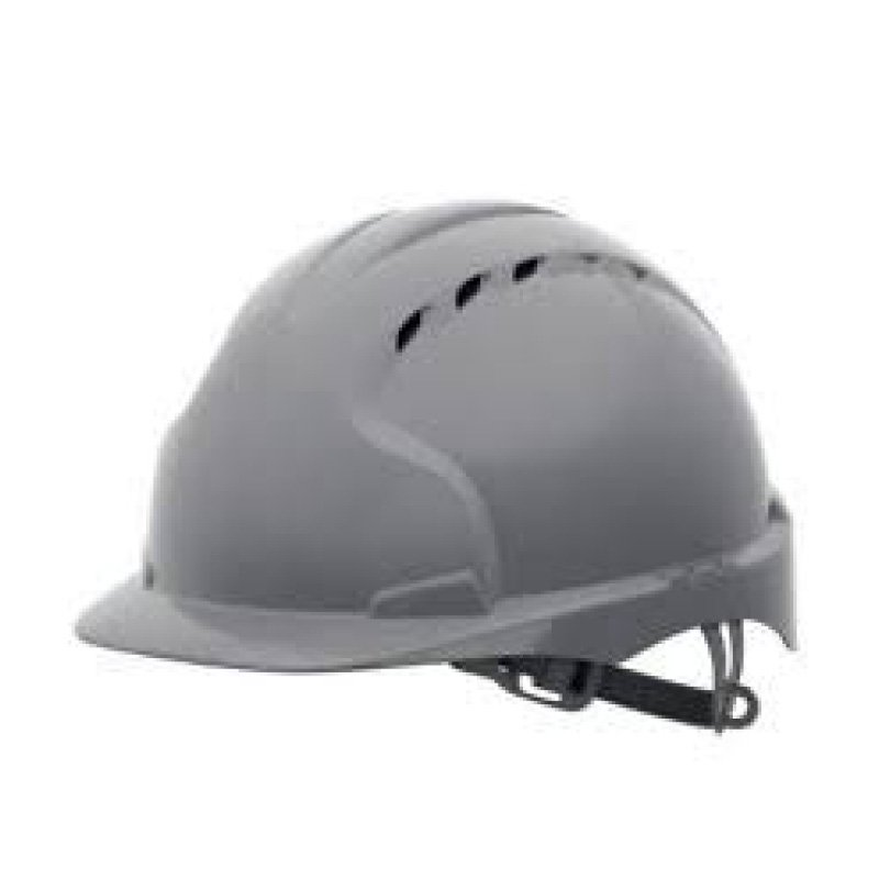 Grey EVO3 Mid Peak Vented Adjustable Strap Helmet