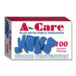 Assorted Blue Detectable Catering Plasters (Box of 100)