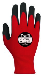Morphic 1 - Size 10 - RED Cut Level 1 Traffi glove TG1140