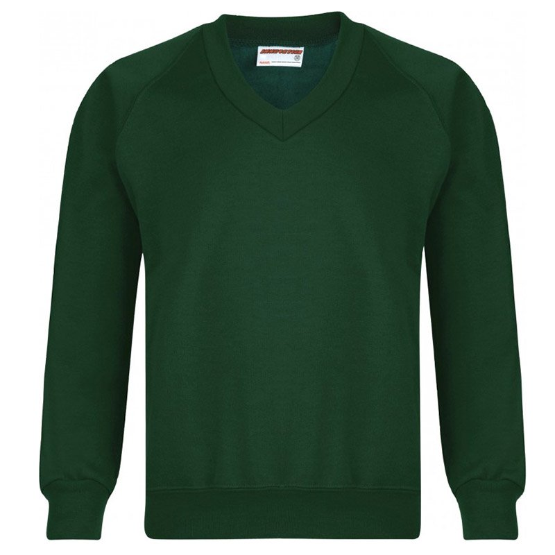Medium Bottle Green V-Neck Sweatshirt