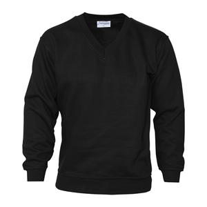 L Black V-Neck Sweatshirts