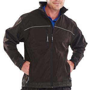 XS Black CLICK Workwear Softshell Jacket