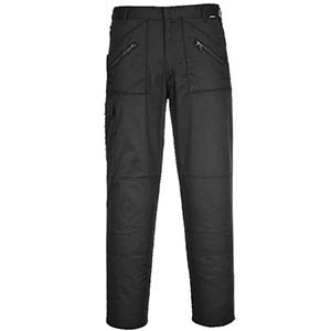 Black Action Work Trousers 30