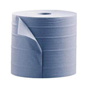 193mmx150m Blue 2 Ply Centrefeed Paper Wiper Rolls