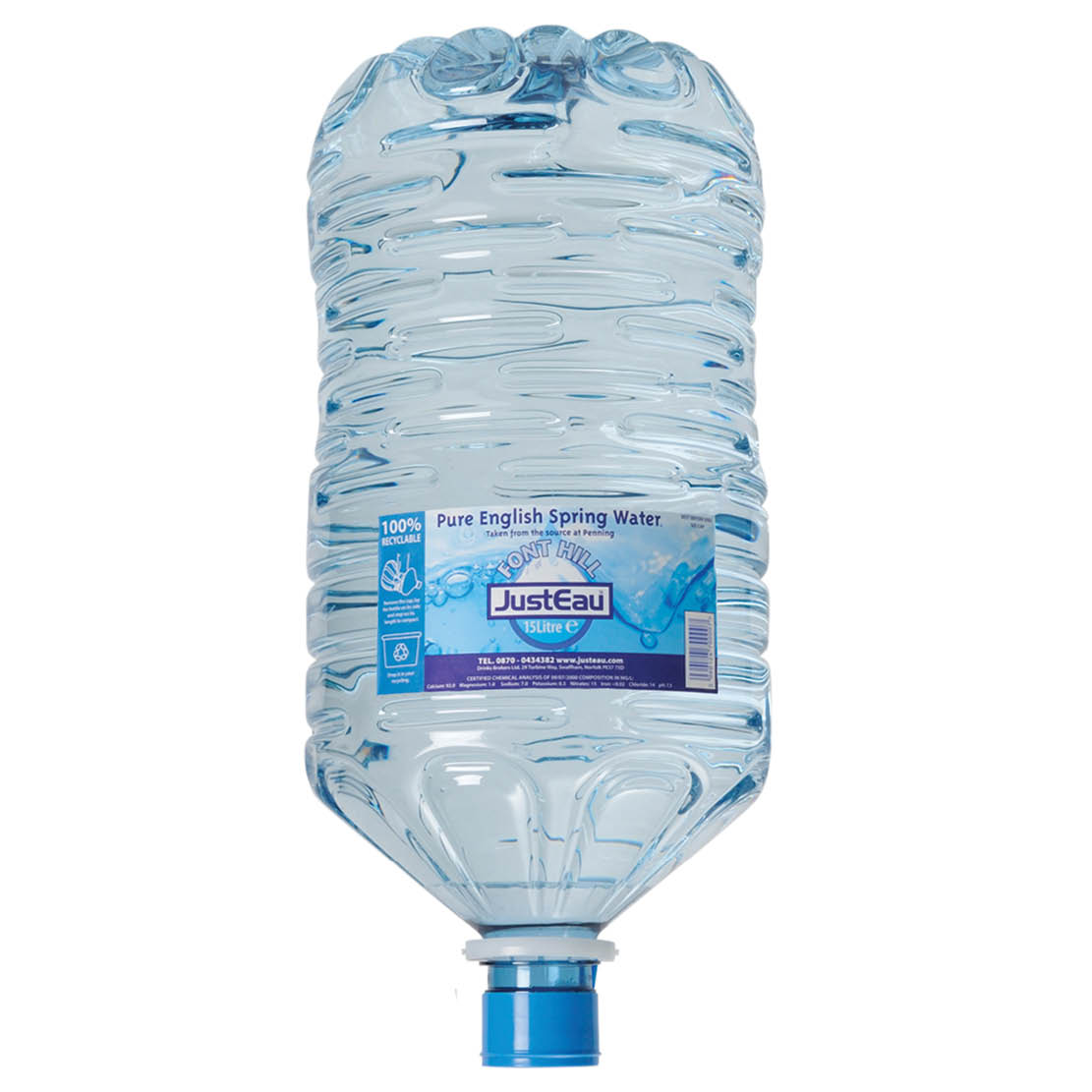 15 Litre Pure English Spring Mineral Water Refill Bottle (Min Order Qty = 2) [3-5 day Delivery]