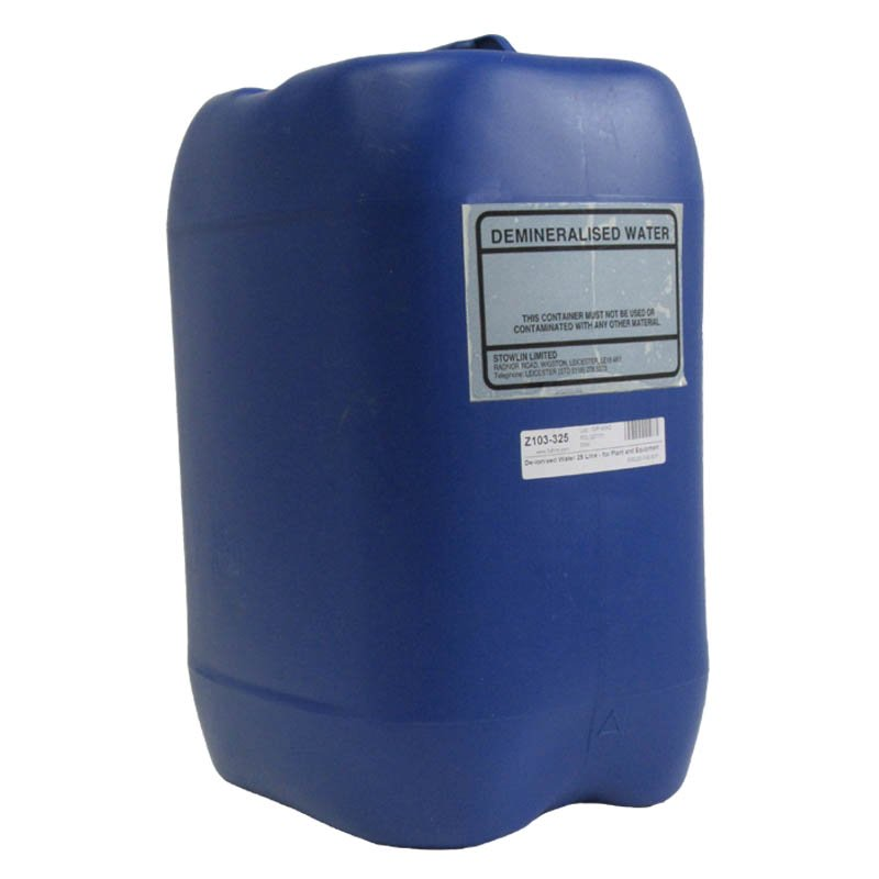 De-ionised Water 25 Litre - for Plant and Equipment