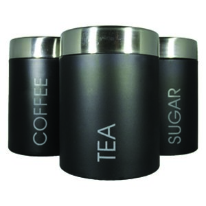 Tea, Coffee and Sugar Canisters - Set of 3