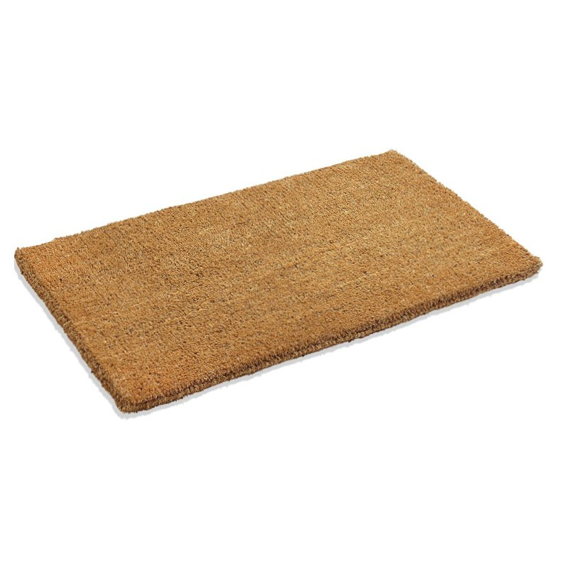 Coco PVC Back-Tufted Plain Natural Door Mat - 60x35cm