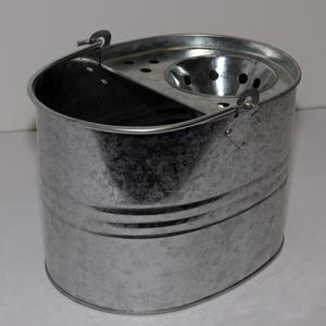 Galvanised Mop Bucket with Wringer