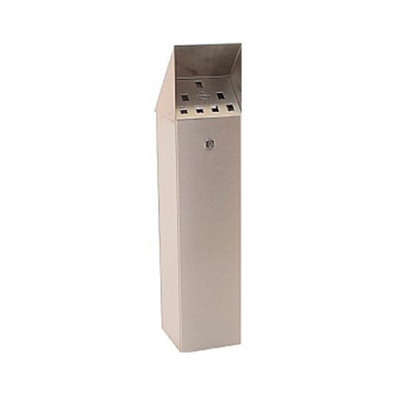 920mm High Floor Mounted Cigarette Bin with Removable Top - Stainless Steel