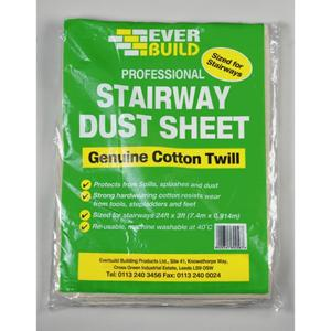 24'x3'  Stairway Cotton Twill Dust Sheets