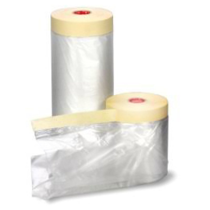 550mm x 33m Protective Sheeting Pre-taped with Masking Tape Refill
