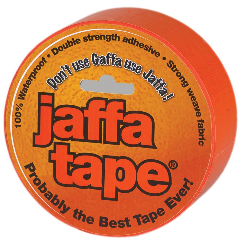 50mmx25m 'Jaffa Tape' Orange Polycloth Tape