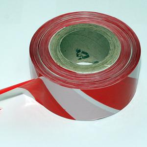 72mmx500m Red/White Barrier Tape - Non Adhesive