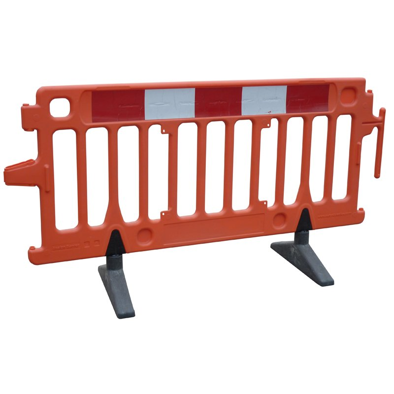 2m Orange Standard Barrier c/w Feet