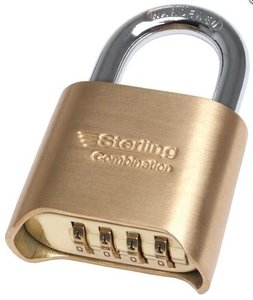 50mm Brass Combination Padlock - 4 Dial