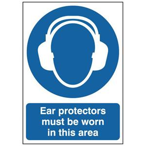 150x125mm Ear Protectors Must Be Worn In This Area Must Be Worn - Rigid
