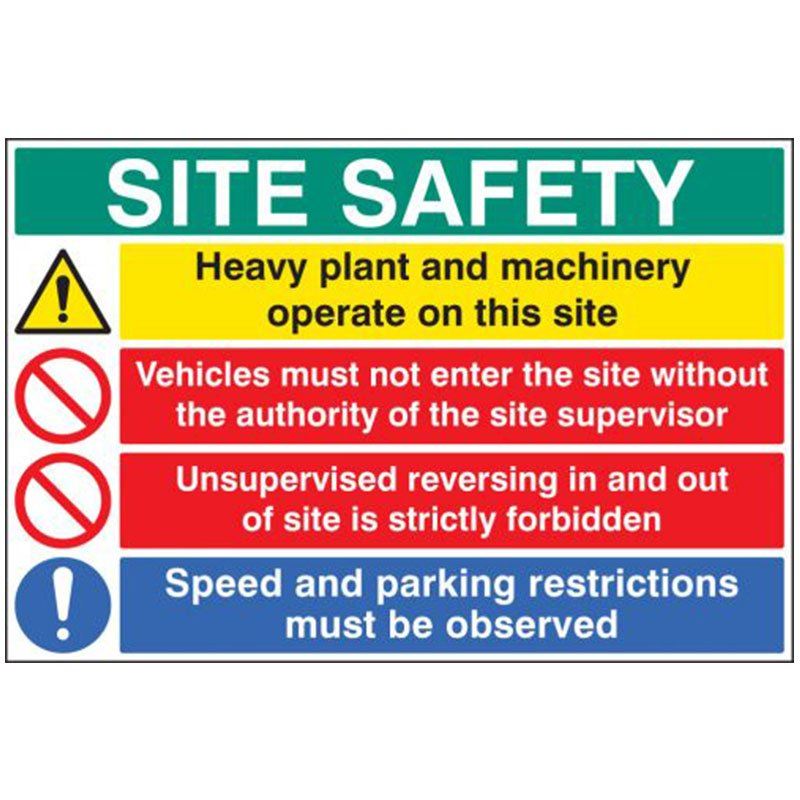 600x900mm SITE SAFETY Drivers Instructions Sign - Rigid