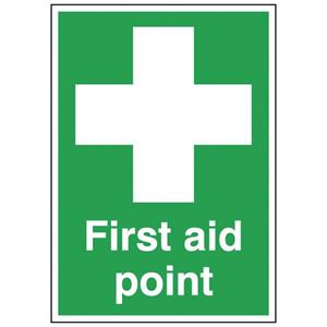 100x250mm First Aid Point - Self Adhesive