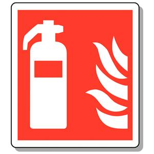 200x200mm Fire Extinguisher Symbol - Deluxe