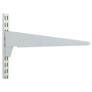 Twin Slot Shelving Brackets - White