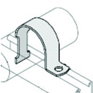 1 Part Channel Pipe Clip