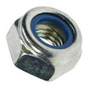 BZP Nylon Insert Nuts - Type P